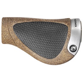 Ergon GP1 BioKork Grips Gripshift, brown/black